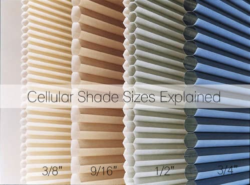 What Cell Size Do I Need? - Cellular Shade Sizes Explained - The ...