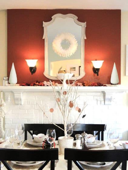 Holiday Dining Room via Houzz user Lauren Hufnagl