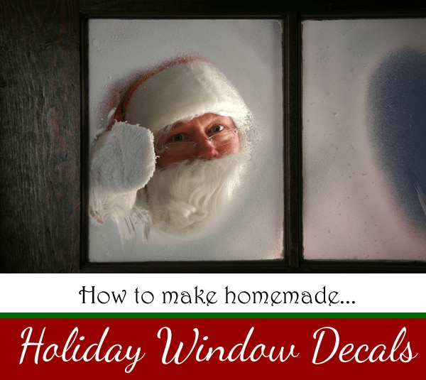 How to make holiday window decals