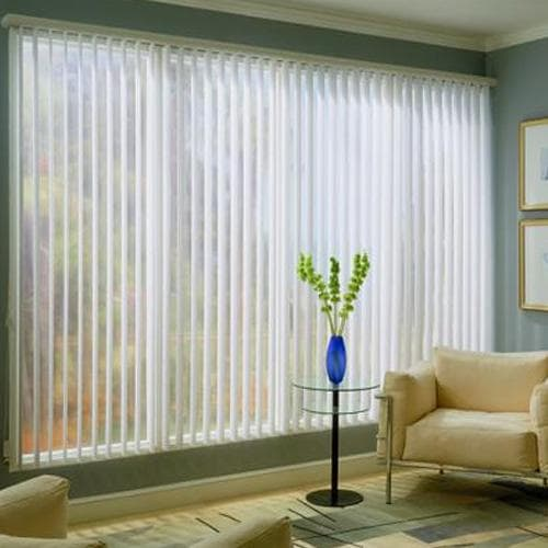 Blinds.com Brand Faux Wood Vertical Blinds - Snow White
