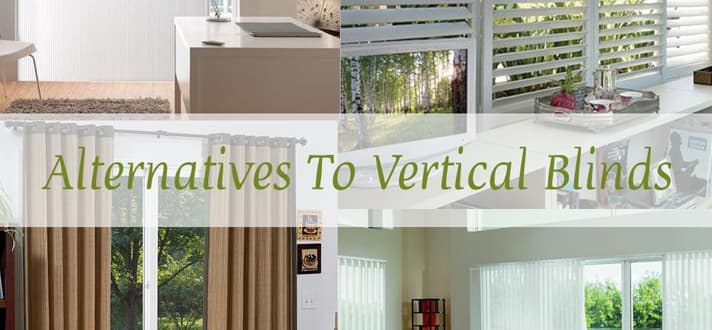 If you need to block glare and harmful UV rays coming in through your  sliding glass door, traditional vertical