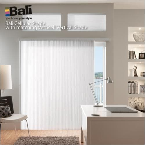 bali verticell 38 double cell light filtering shades from blindscom - Blinds For Sliding Glass Door