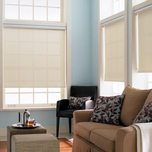 Blinds.com Brand Singature Light Filtering Roller Shades in Splendor Ivory