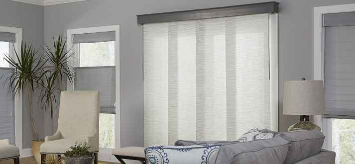if you need to block glare and harmful uv rays coming in through your sliding glass door traditional vertical blinds arent the only choice - Blinds For Sliding Glass Door