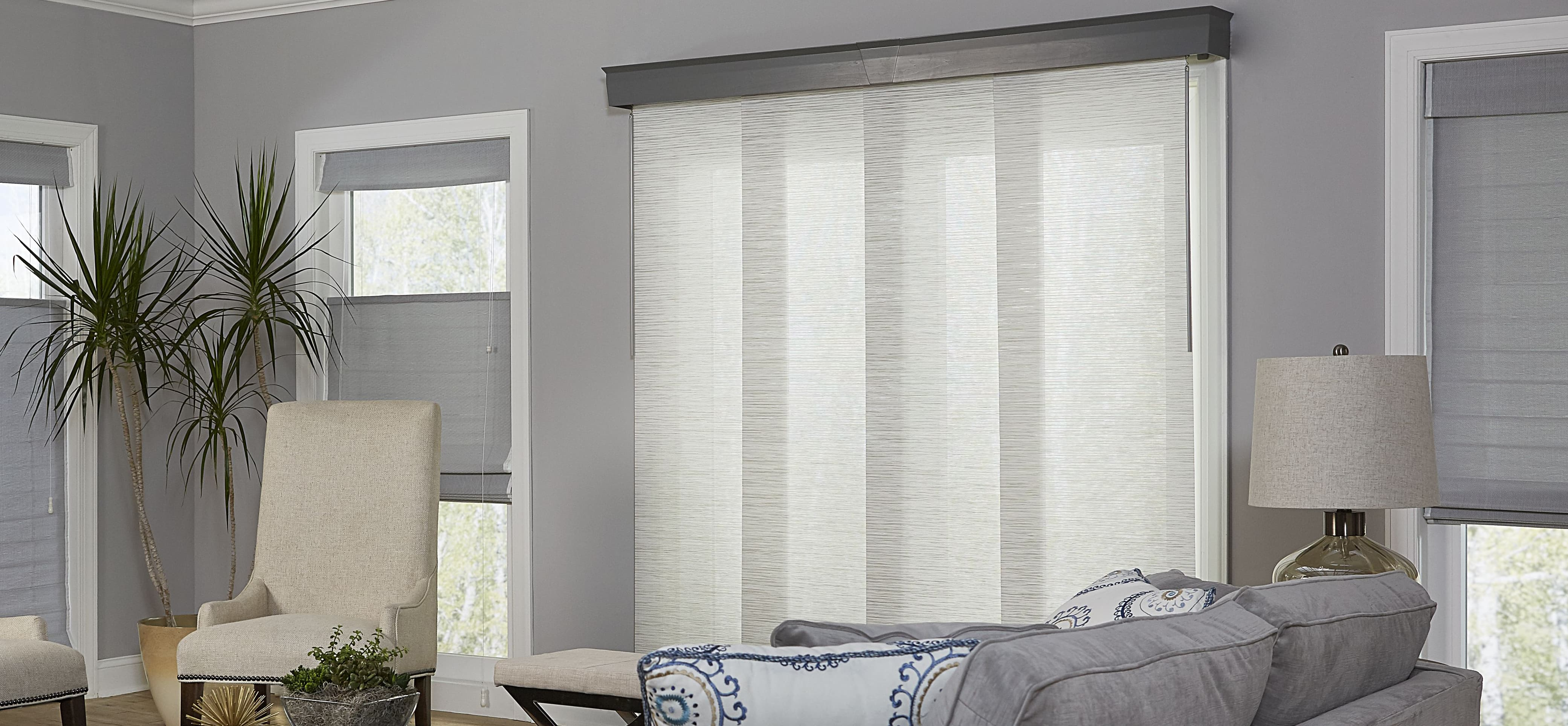 If You Need To Block Glare And Harmful UV Rays Coming In Through Your  Sliding Glass Door, Traditional Vertical Blinds Arenu0027t The Only Choice.