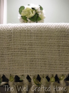Burlap Table runner The Well Crafted Home