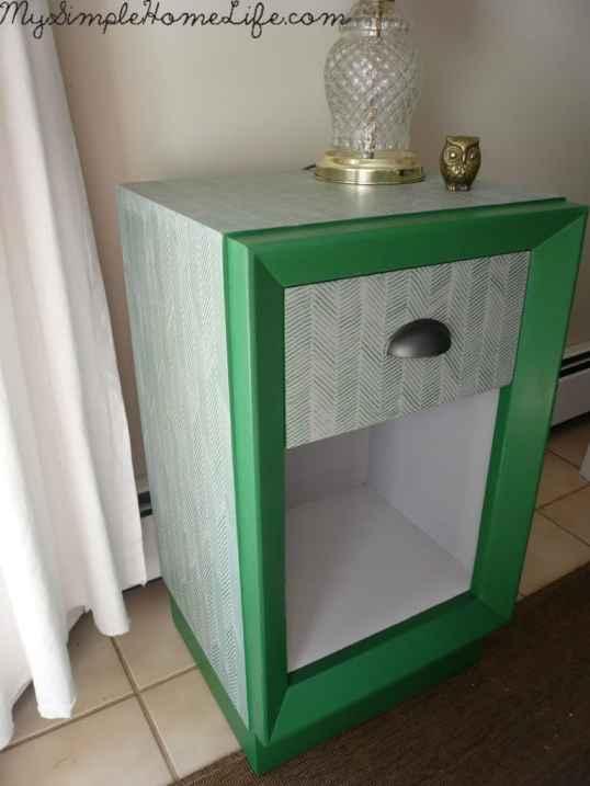 Herringbone Painted Nightstand from Simple Home Life