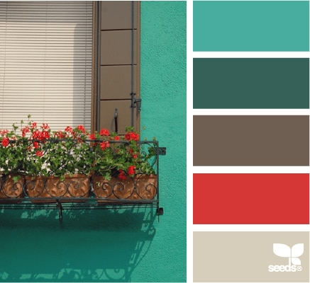 Red and Turquoise Palette