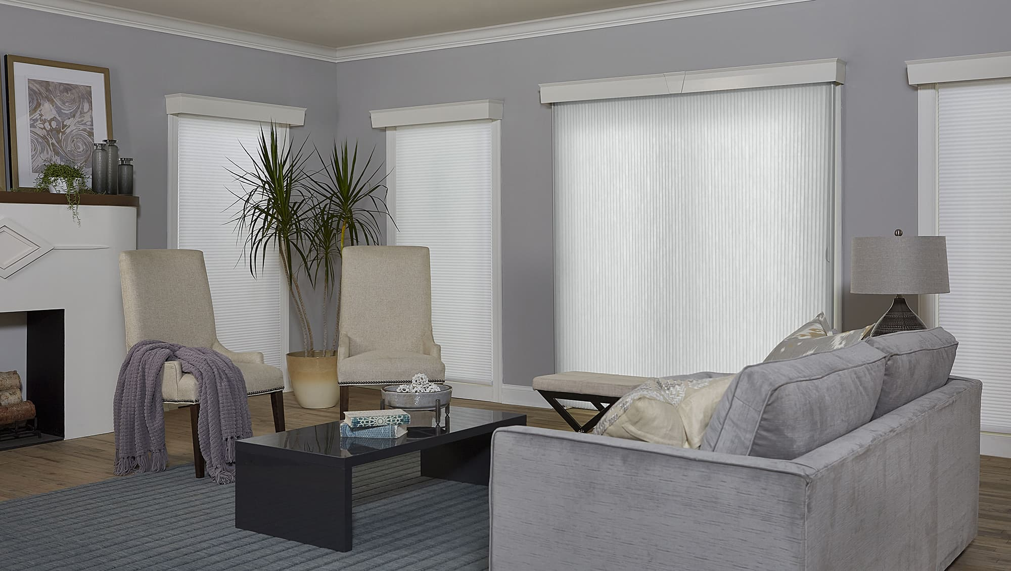 Blinds.com Premium Light Filtering Vertical Cellular Shade