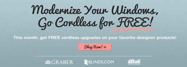 Free cordless form Blinds.com