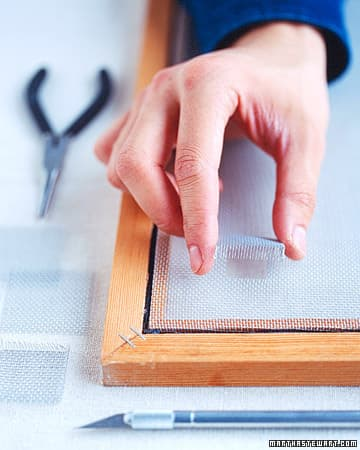 how to patch window screen