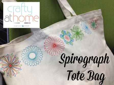 Spirograph Upcycling Tote Bag