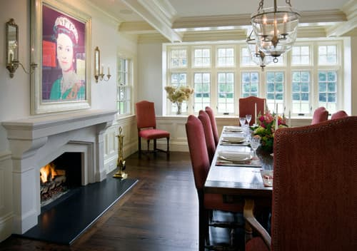 Balance A Classical Style With Modern Art Traditional Dining Room
