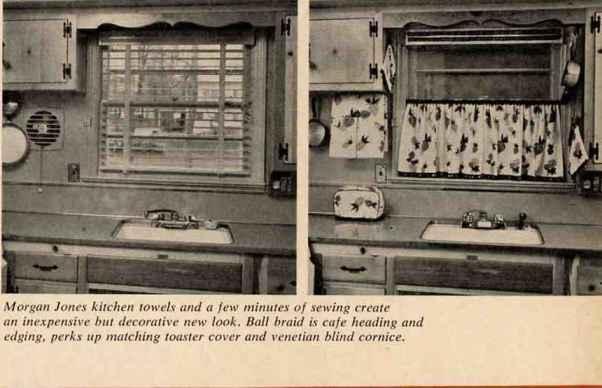 Vintage cafe curtains