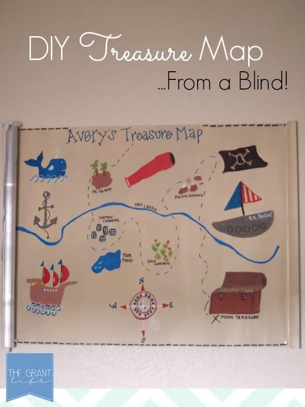 DIY Treasure Map - From a Roller Shade!