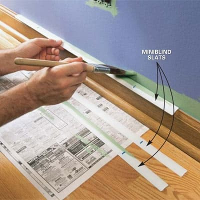Painting tip with blinds slats