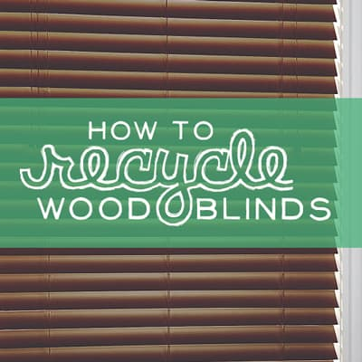 can you recycle blinds how to recycle blinds the blog. Black Bedroom Furniture Sets. Home Design Ideas