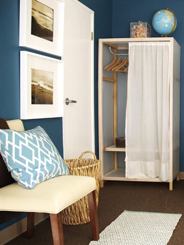 Dorm Decor Ideas   Curtain Over Closet Design Inspirations