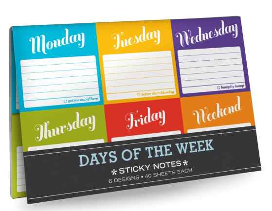 Days of the Week Post-Its