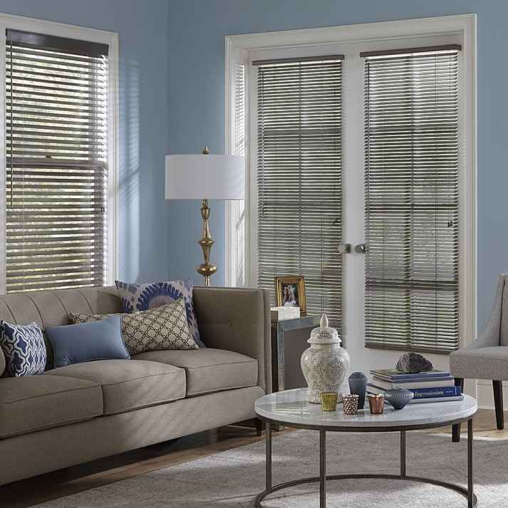 wood blinds for french door