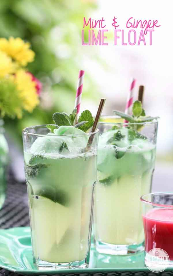 mint and ginger floats