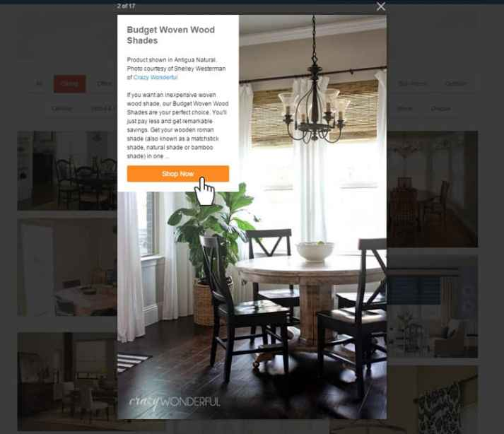 Blinds.com inspirational gallery product info