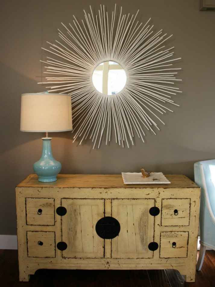 DIY Bamboo Sunburst Mirror