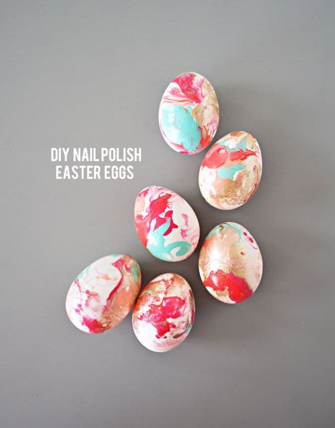 Marbled Eggs Made with Nail Polish
