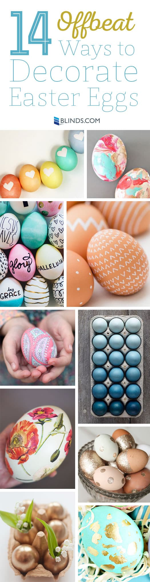 14 Offbeat Ways to decorate easter eggs
