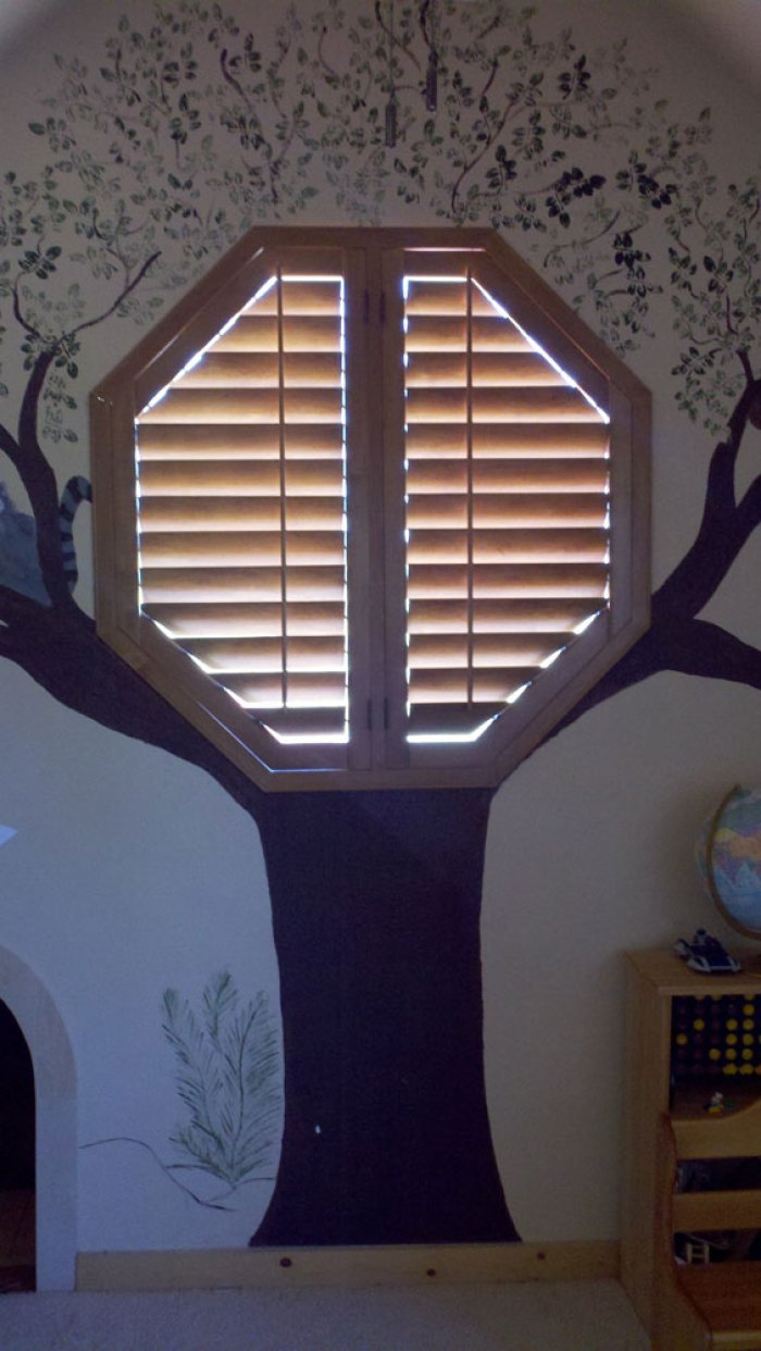 Octagon Window Shutters