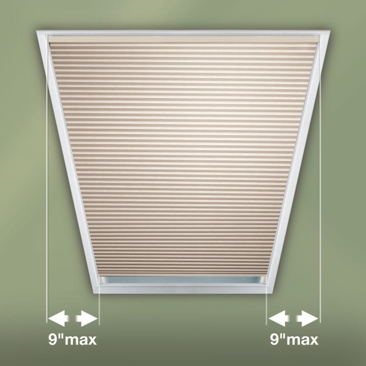 Trapezoid window shades