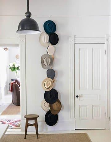 Vertical hat Wall Display