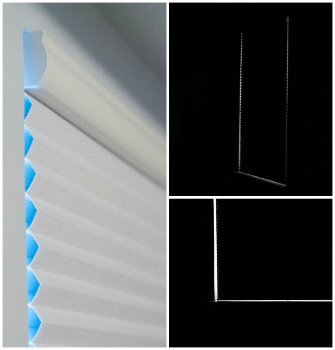 cellular shades light gap