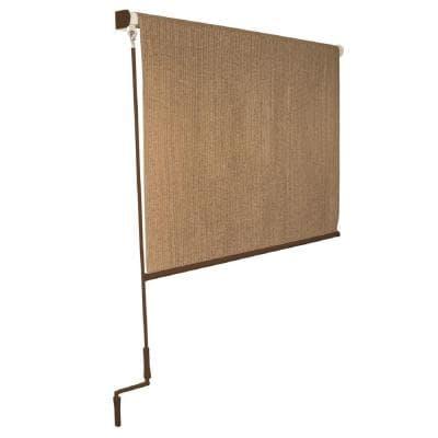 exterior shade with crank