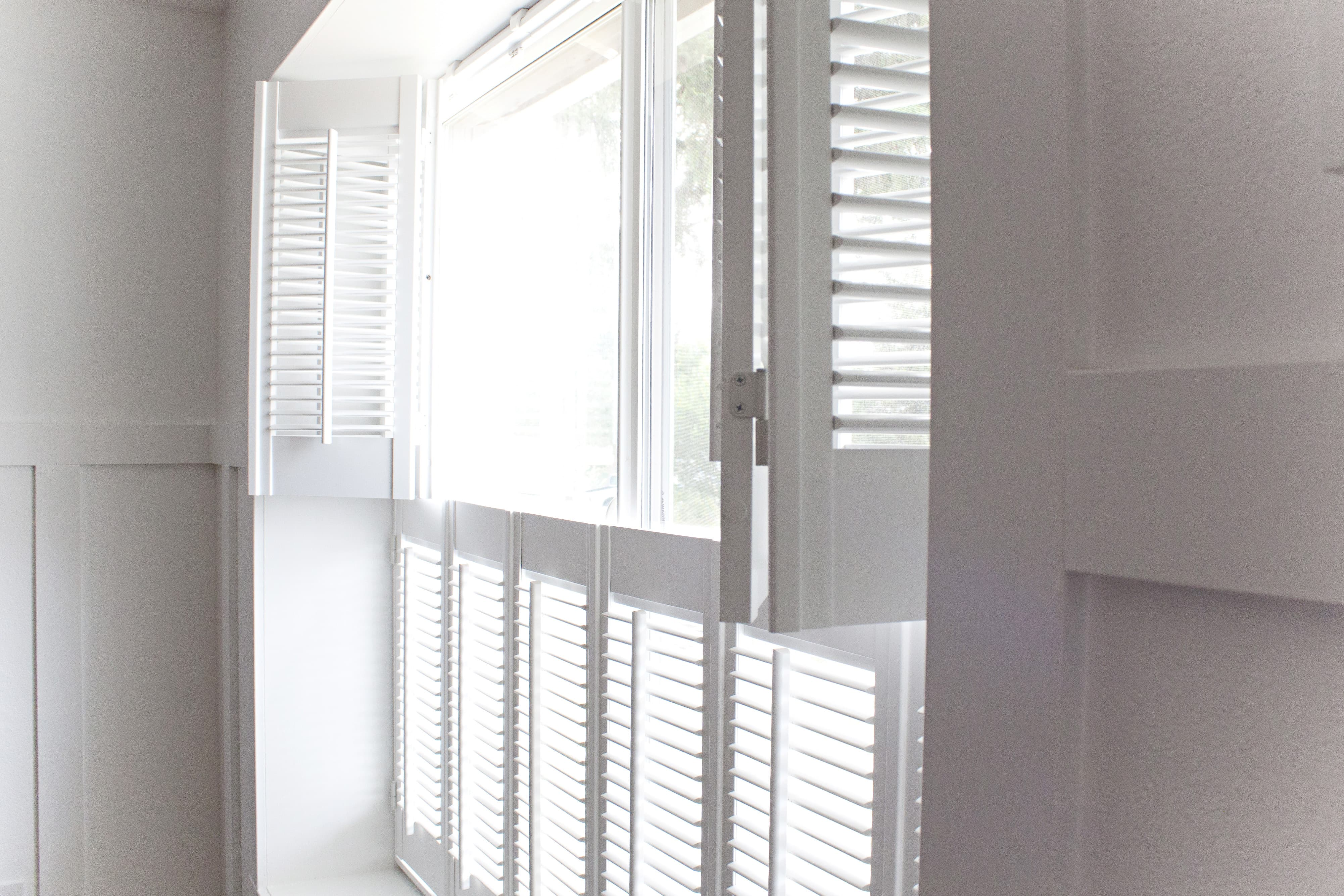 Divider Rails Are Another Available Option For Your Shutter Panels. A  Divider Rail Is A Stationary Strip That Allows You To Open The Top Louvers  While ...