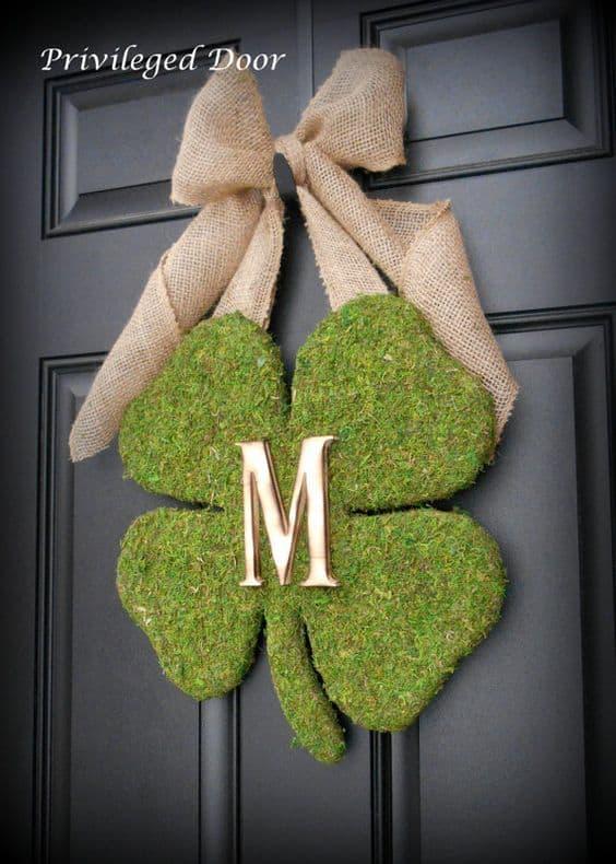 Belleek Green Dublin Door Ornament | Custom wood exterior ...  |Ireland Door Decorations