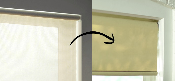 Can You Switch Roller Shades To Unroll From The Front