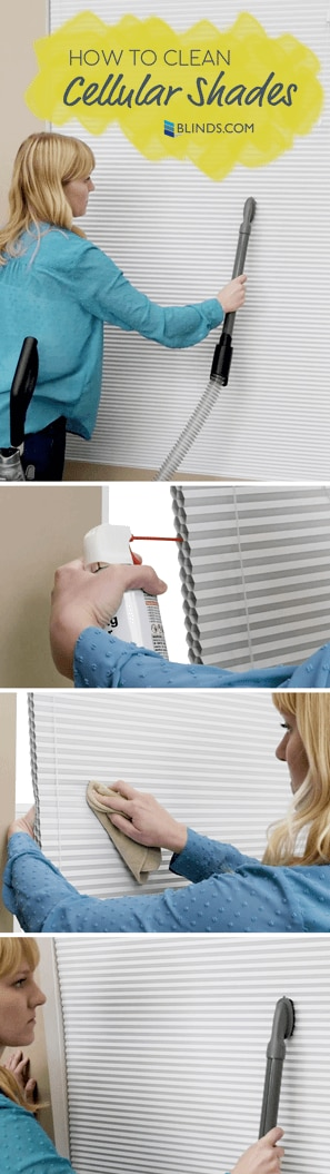 how to clean cellular shades without ruining them the blog. Black Bedroom Furniture Sets. Home Design Ideas
