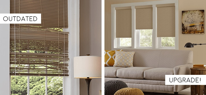 mini blinds replacement upgrade roller shades
