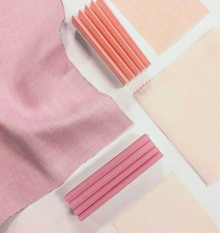 Millennial pink window shades