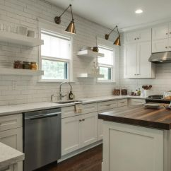 Kitchen Shades Backsplashes For Counters 5 Fresh Ideas Window Treatments The Finishing Touch White With Subway Tile To Ceiling Open Shelving Brass Swing Arm Lights Over