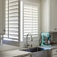 Blinds For Kitchen Windows Aid Toaster 5 Fresh Ideas Window Treatments The Finishing Touch Shutters On Over Sink With One Panel Open