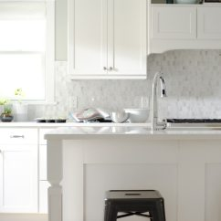 Kitchen Window Ideas Moen Arbor Faucet 5 Fresh For Treatments The Finishing Touch White With Small Marble Tile Backsplash And Roman Shades