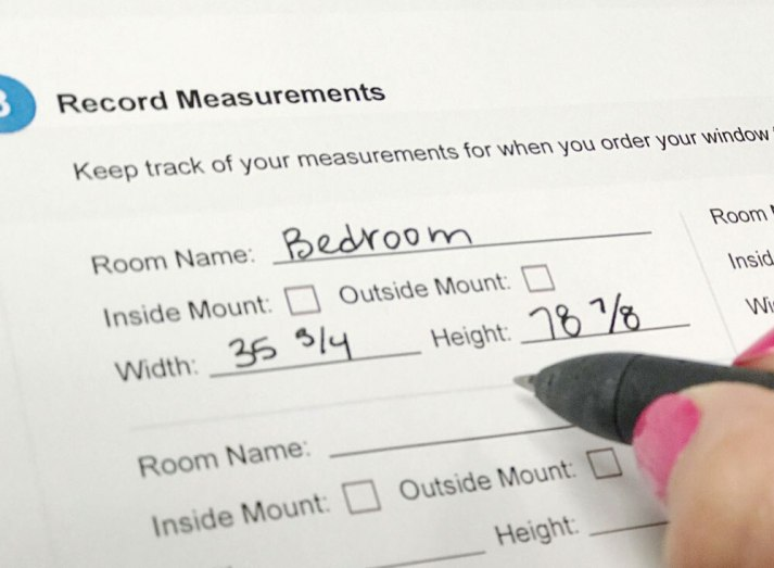 window blinds measurement instructions