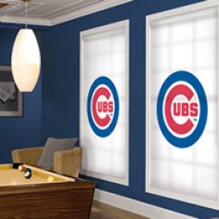 Discount Kitchen Curtains Wood Tile Floor Officially Licensed Mlb™ Chicago Cubs Window Blinds