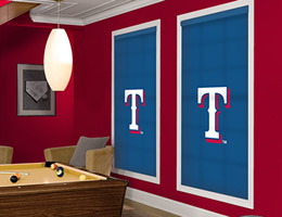 Officially Licensed MLB Texas Rangers Window Blinds