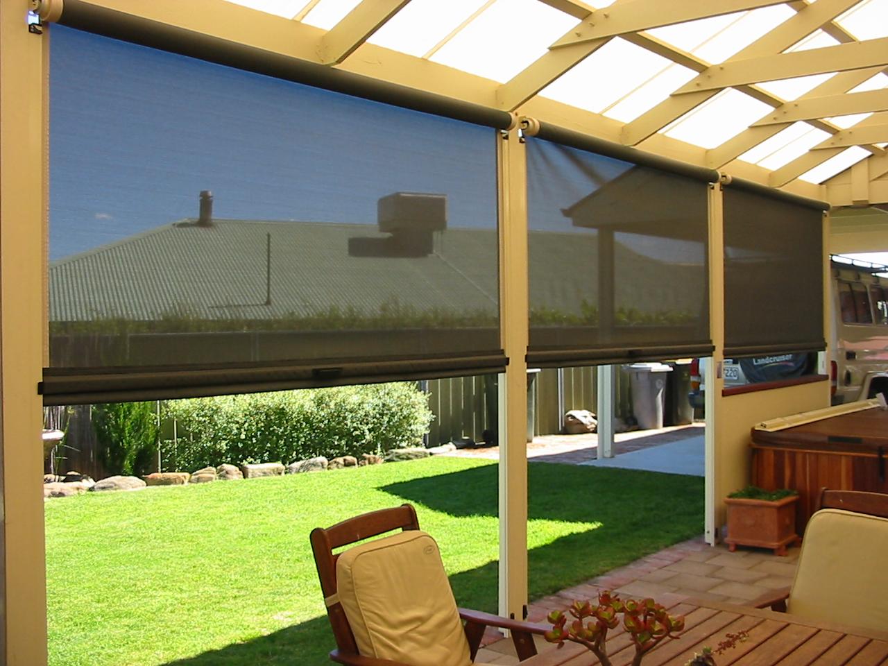 bali exterior solar roller shade steppe