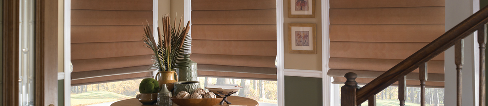 Fabric Roman shades and bamboo Roman shades by BlindsNMore