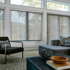 Blinds For Living Room Storage Chests Inspiration Custom And Shades To Go Highlands Fabric Vertical Give This A Spacious Clean Feel