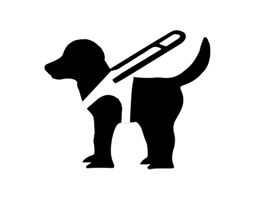 Blind Travels dog logo